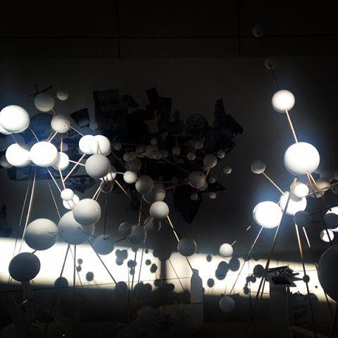 Oeuvre collective autour de la ville de demain à l'occasion du Monde Festival à l'Opéra Bastille | 2015  [une série d'ateliers à la croisée des pratiques art/design/architecture/numérique - conçue et organisée en collaboration avec l'architecte Marie-Hélène Fabre]