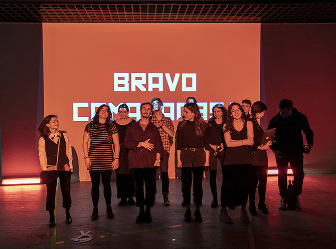 The students of the DSAA Design and Digital Creation of the Ecole Estienne  @photo: Rémy Deluze